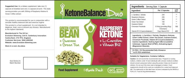 Etichetta Ketone Balance Duo